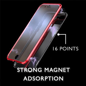 360° Protection Magnet iphone Case Electronic VanillaSnowball Red For iPhone 7