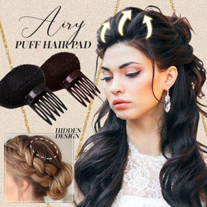 Airy Puff Hair Pad (3PCS) Beauty & Personal Care usimaginever Black - 2 Pcs
