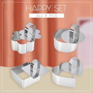 Versatile Mousse Cake Ring Molds Set Kitchen mikgoodies HAPPY SET (ALL 4 PCS)