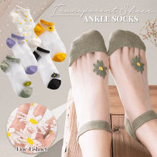 Load image into Gallery viewer, Transparent Daisy Socks Beauty glassywhite Daisy Farm 1 Pair