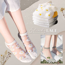 Load image into Gallery viewer, Transparent Daisy Socks Beauty glassywhite