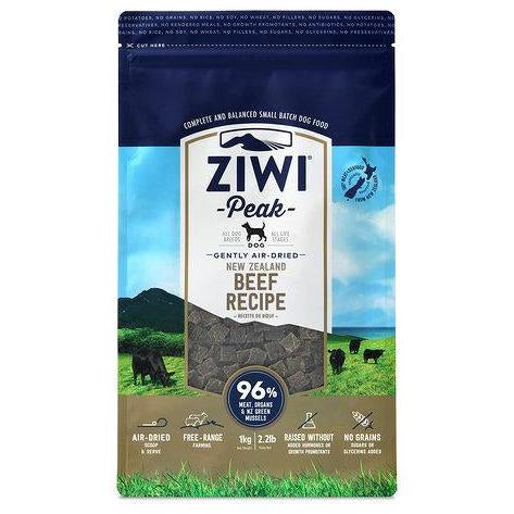ZIWI PEAK AIR DRIED BEEF DOG FOOD 1KG