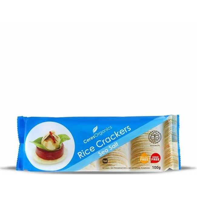 CERES SEA SALT RICE CRACKERS 100G