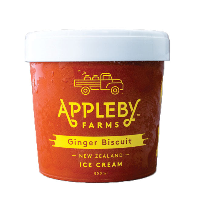 APPLEBY FARMS GINGER BISCUIT ICE CREAM 850ML
