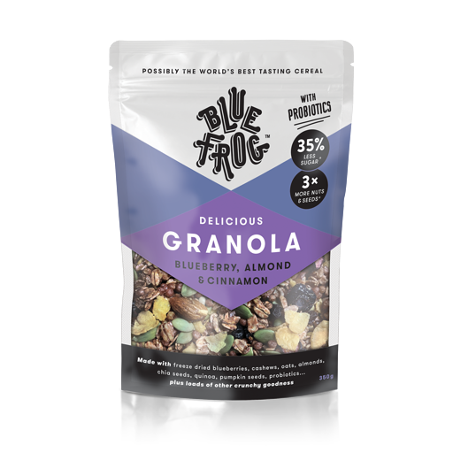 BLUE FROG BLUEBERRY ALMOND AND CINNAMON DELICIOUS GRANOLA 350G