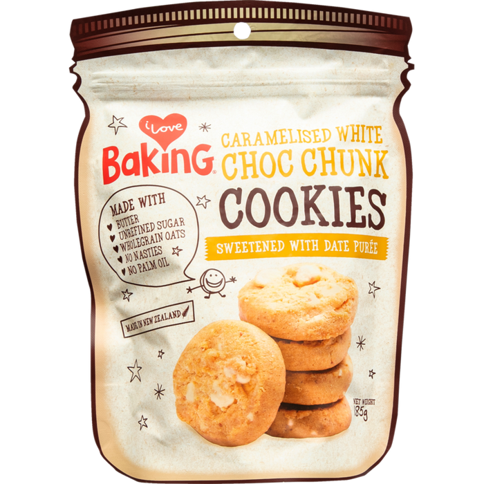 I LOVE BAKING CARAMELISED WHITE CHOC CHUNK COOKIES 185G