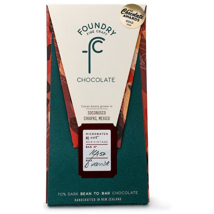 FOUNDRY SOCONUSCO CHIAPAS MEXICO 70% CHOCOLATE 70G