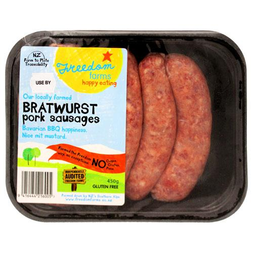 FREEDOM FARMS BRATWURST SAUSAGE EACH