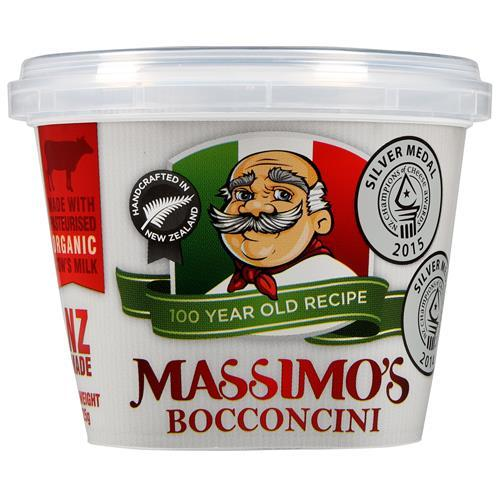 MASSIMOS FRESH BOCCONCINI PACKED CHEESE 125G