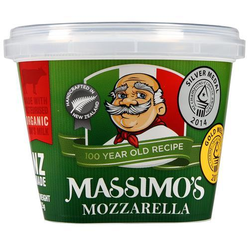 MASSIMOS FRESH MOZZARELLA PACKED CHEESE 125G