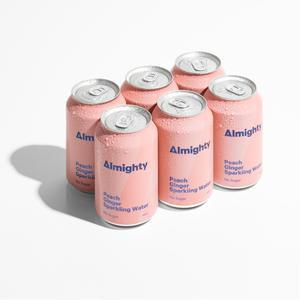 ALMIGHTY PEACH AND GINGER SPARKLING WATER 6 PACK