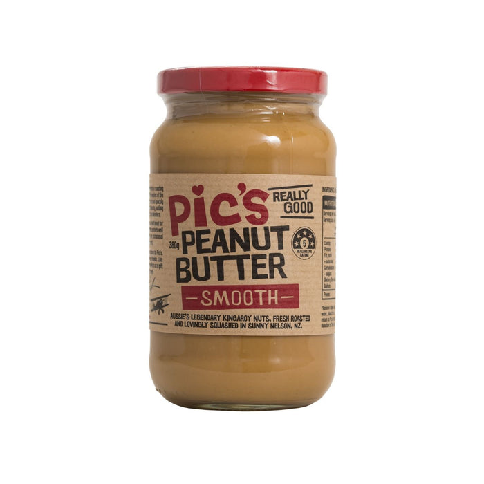 PICS SMOOTH PEANUT BUTTER 380G