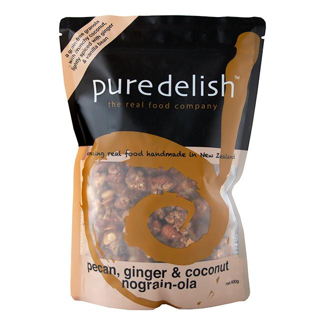 PURE DELISH PECAN GINGER AND COCONUT NOGRAIN-OLA 400G