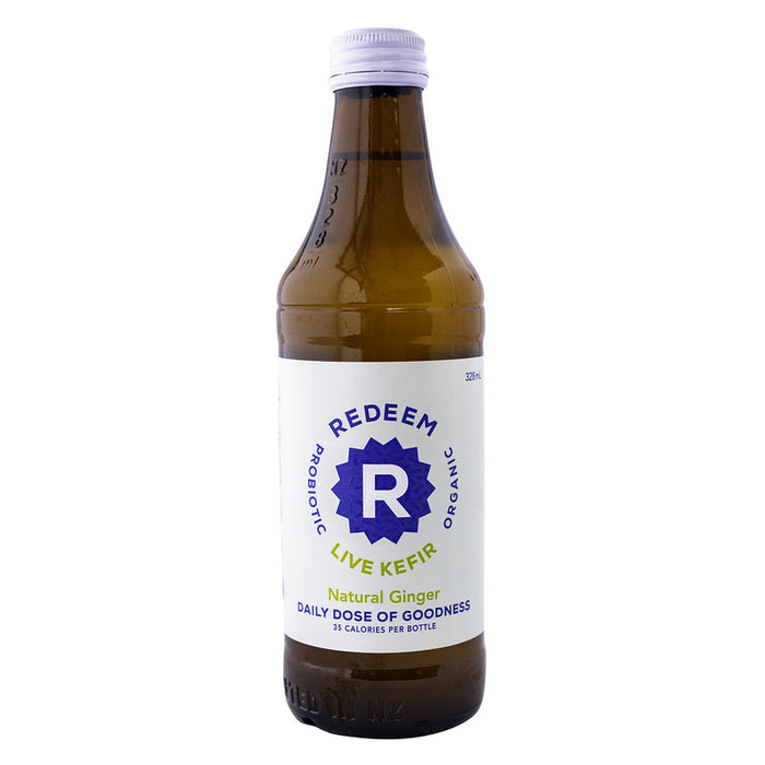 REDEEM PROBIOTIC KEFIR NATURAL GINGER 328ML