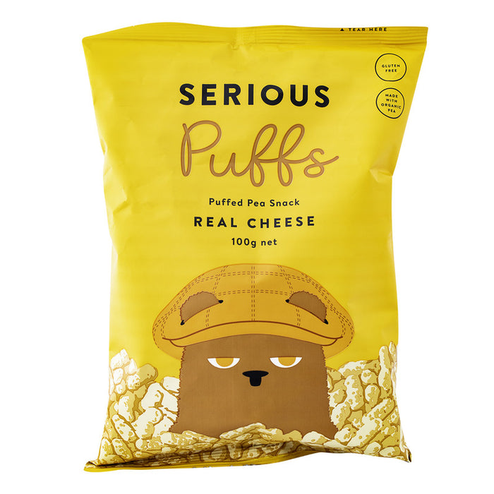SERIOUS PUFFS - REAL CHEESE 100G