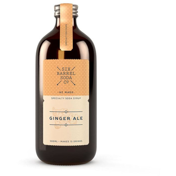 SIX BARREL GINGER ALE SYRUP 500ML