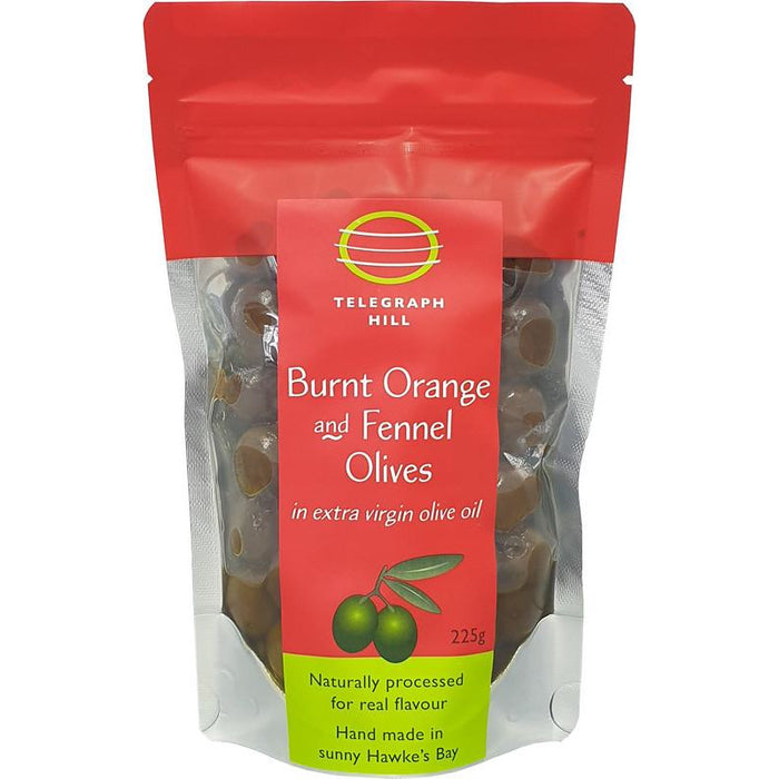 TELEGRAPH HILL BURNT ORANGE OLIVES 225G