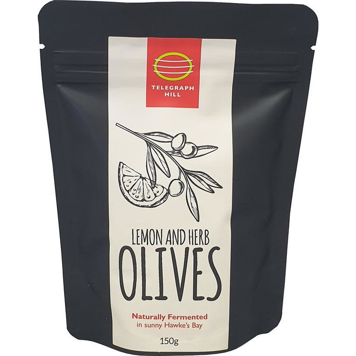 TELEGRAPH HILL LEMON AND HERB OLIVES 150G
