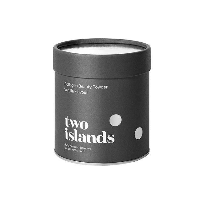 TWO ISLANDS COLLAGEN BEAUTY POWDER VANILLA 300G