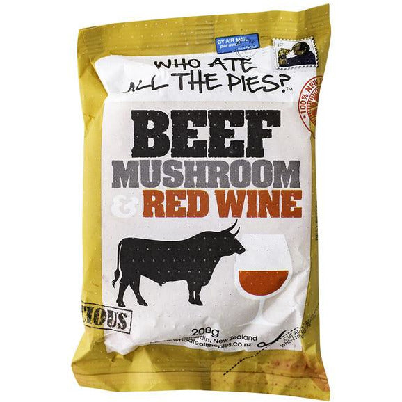WHO ATE ALL THE PIES BEEF MUSHROOM AND RED WINE 200G