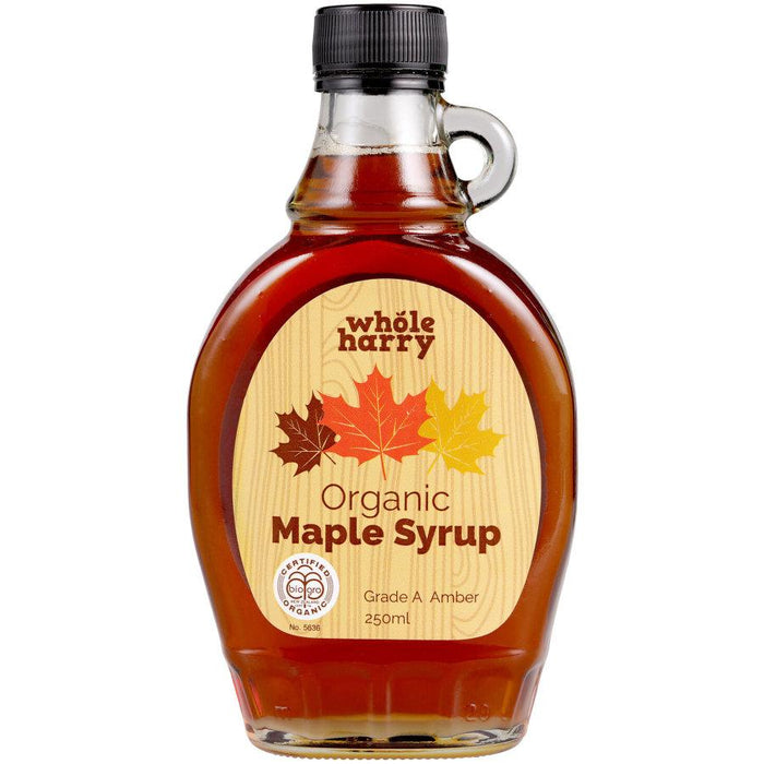 WHOLE HARRY ORGANIC MAPLE SYRUP 250ML