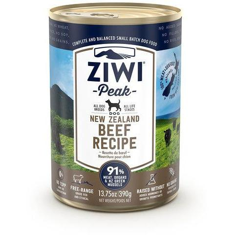 ZIWI PEAK CANNED BEEF DOG FOOD 390G