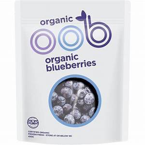 OOB ORGANIC BLUEBERRIES 450G