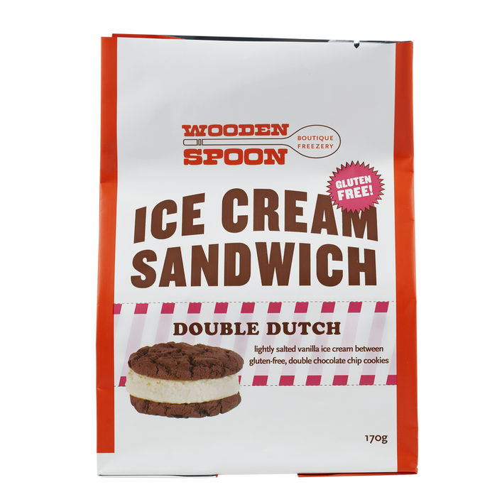 WOODEN SPOON DOUBLE DUTCH ICE CREAM SANDWICH 170G