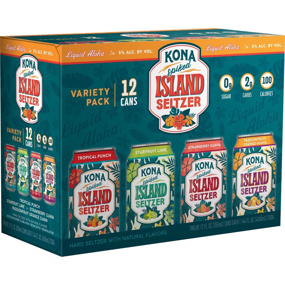 Kona Spiked Island Seltzer Variety Pack 12 Cans (12 oz)