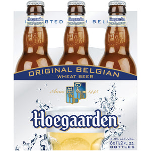 Hoegaarden Belgium Wheat Beer 6 Bottles (11.2oz)