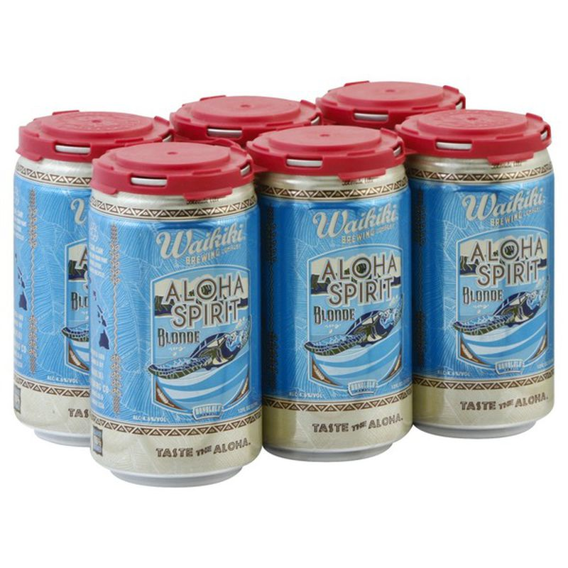Waikiki Brewing Aloha Spirit Blonde Ale 6 Cans (12 oz)