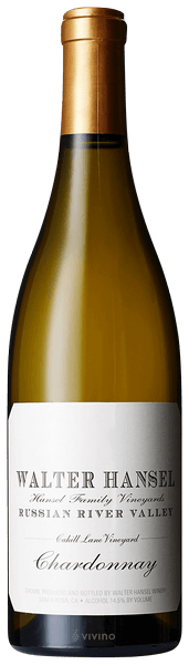 2018 Walter Hansel Winery Chardonnay Cahill Lane