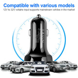 3 USB Round Quick Car Charger 3.0 Fast Charging For iPhone Mobile Phone Super Charger