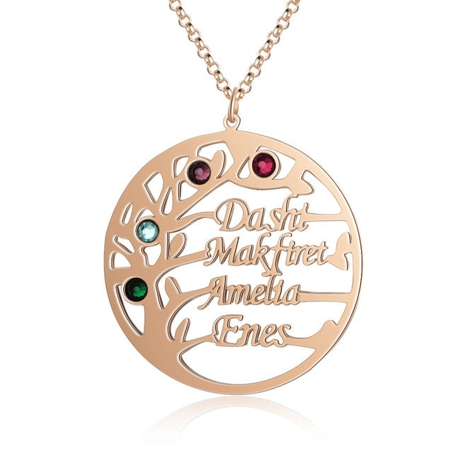 Sterling Silver Tree of Life Name Necklace