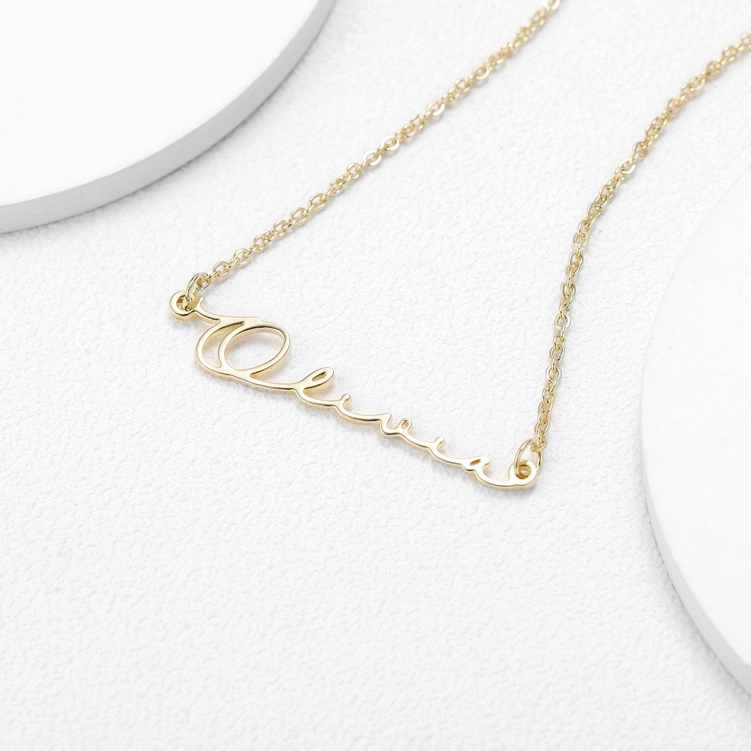 Sterling Silver Handmade Name Necklace