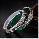 Clover Silver Vines Bangle