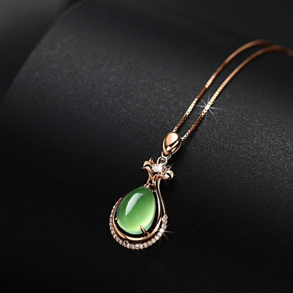 Green Jade 925 Sterling Silver Pendant