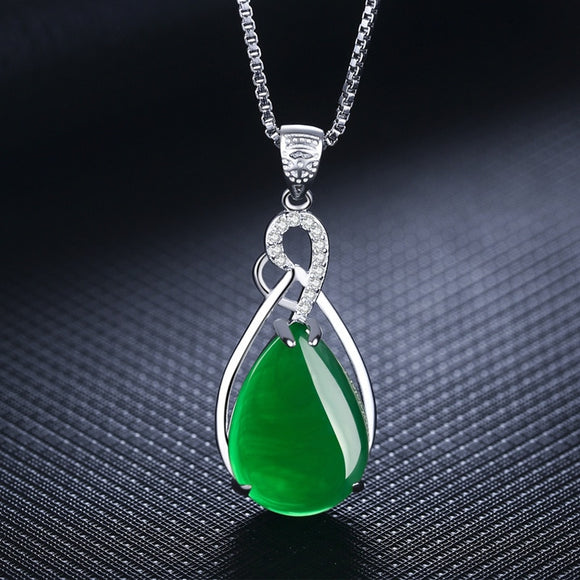 Sterling Silver Women's Corundum Necklace