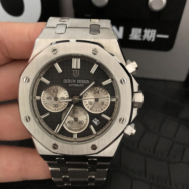 Luxury Steel Quartz Watch