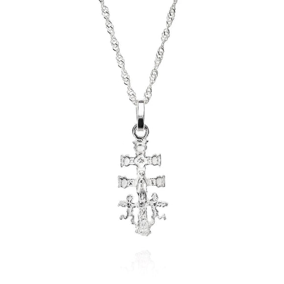Sterling Silver Cross Carava Necklace