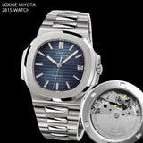 Self-wind Blue Stainless Steel Watch