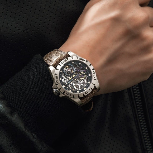Titanium Skeleton Automatic Watch