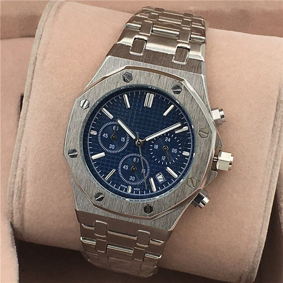 Men Quartz Stainless Steel Watch