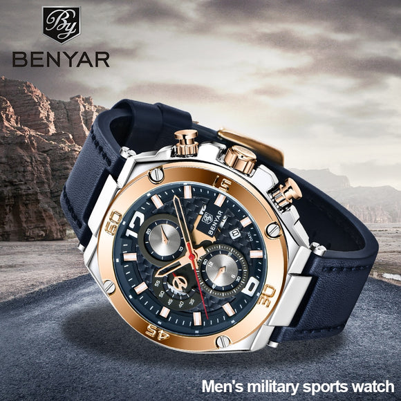Multifunction sport chronograph watch