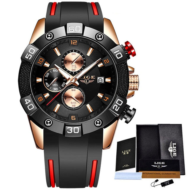 Men Watches with Silicone Strap
