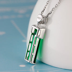 Sterling Silve Emerald Necklaces
