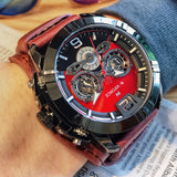 Mens Sport Leather Wristwatches