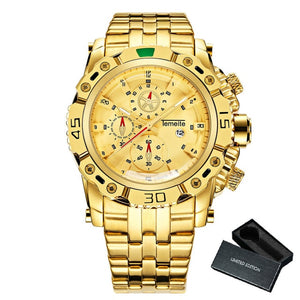 Creative Golden Men Quartz Wristwatches