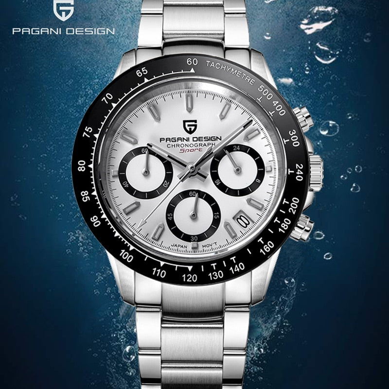 PAGANI Men's Watches Quartz Watch Men Sport Chronograph Watch Sapphire Mirror Relogio Masculino
