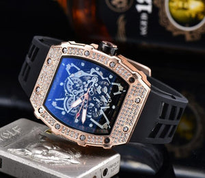 Limited Edition Richard Mens Diamond Watches Top Brand Luxury  RM 1: 1 Watch Men's Mille Quartz DZ Male Clock Reloj Hombre 2020